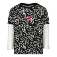Picture of Guess N0BI25/I3Z00 baby shirt black