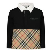 Picture of Burberry 8012410 baby poloshirt black