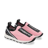 Picture of Dolce & Gabbana DN0105 AH677 kids sneakers light pink