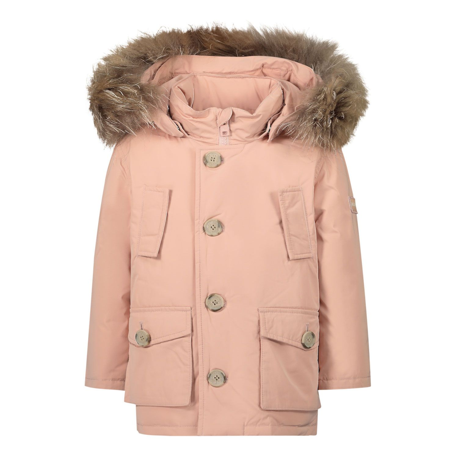 Picture of Woolrich WKOU0139MR baby coat light pink