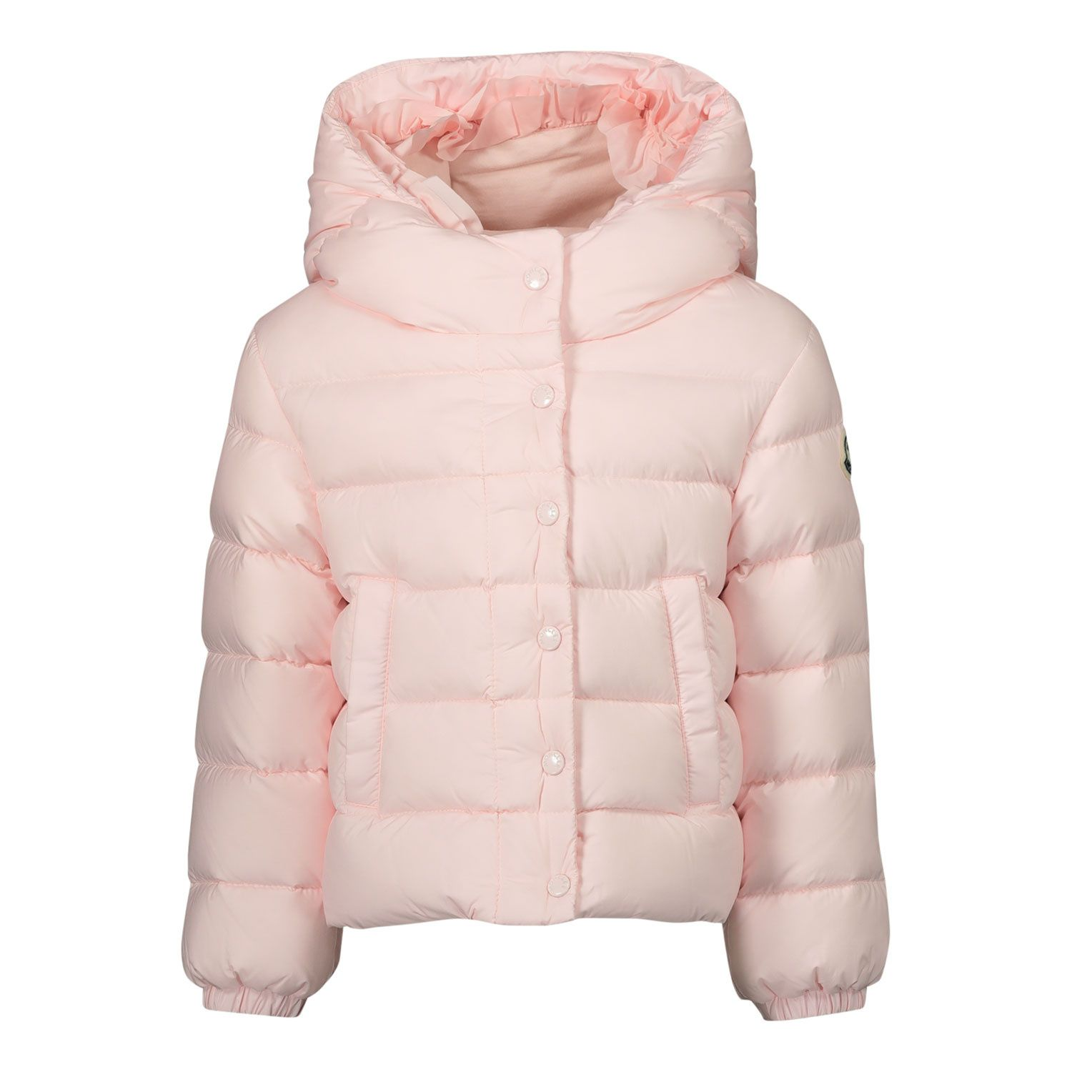 Picture of Moncler 1A52210 baby coat light pink