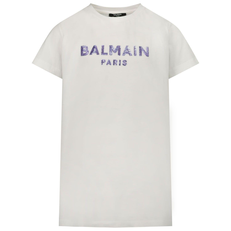 Afbeelding van Balmain 6N8041 kinder t-shirt wit