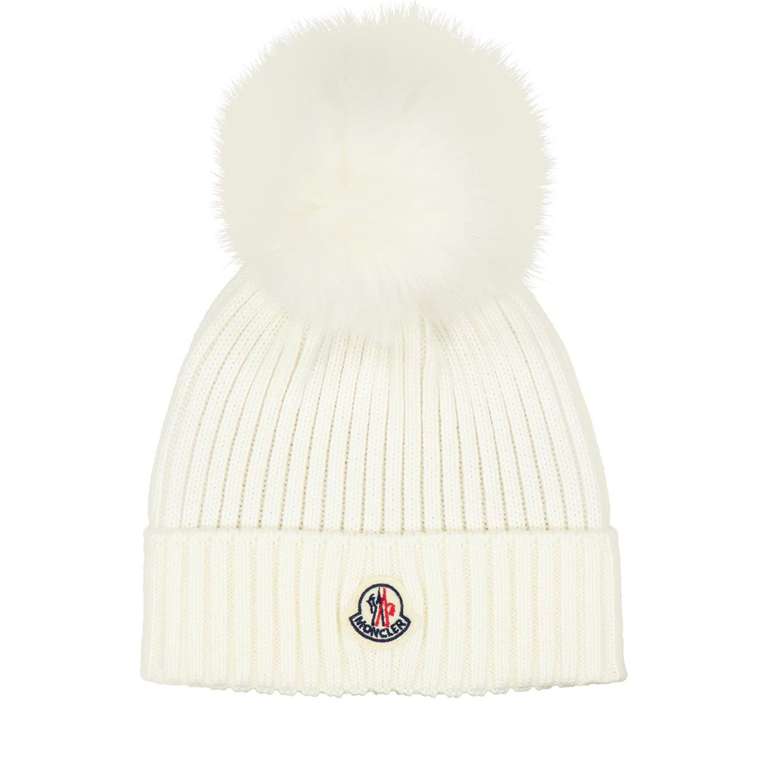 Picture of Moncler 3B71311 kids hat off white