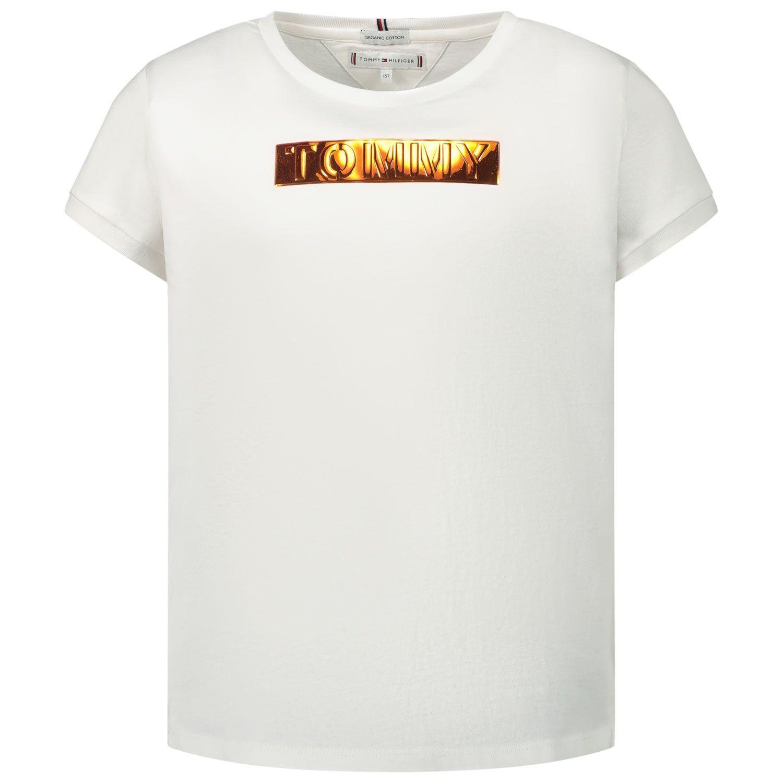 Afbeelding van Tommy Hilfiger KG0KG05028 kinder t-shirt wit