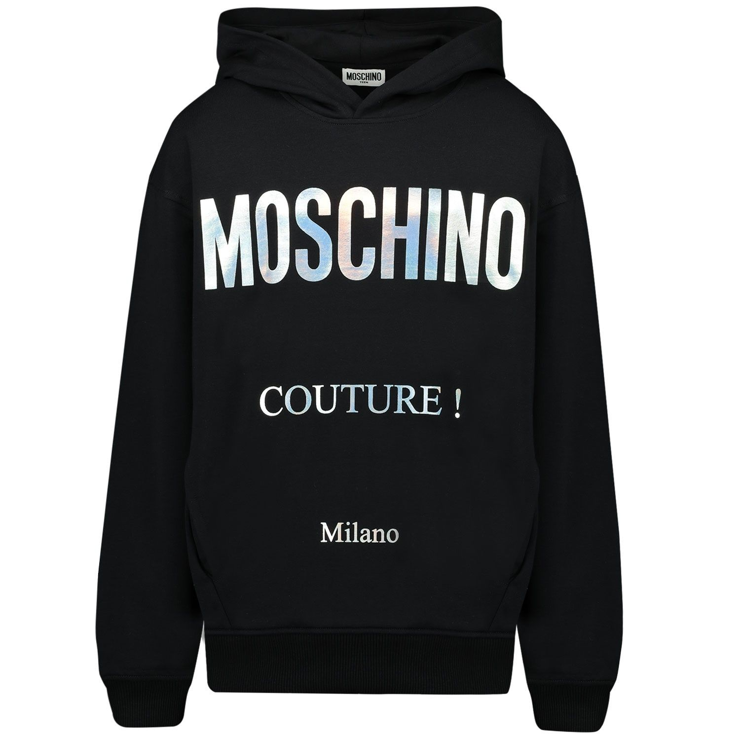 Picture of Moschino HMF03X kids sweater black