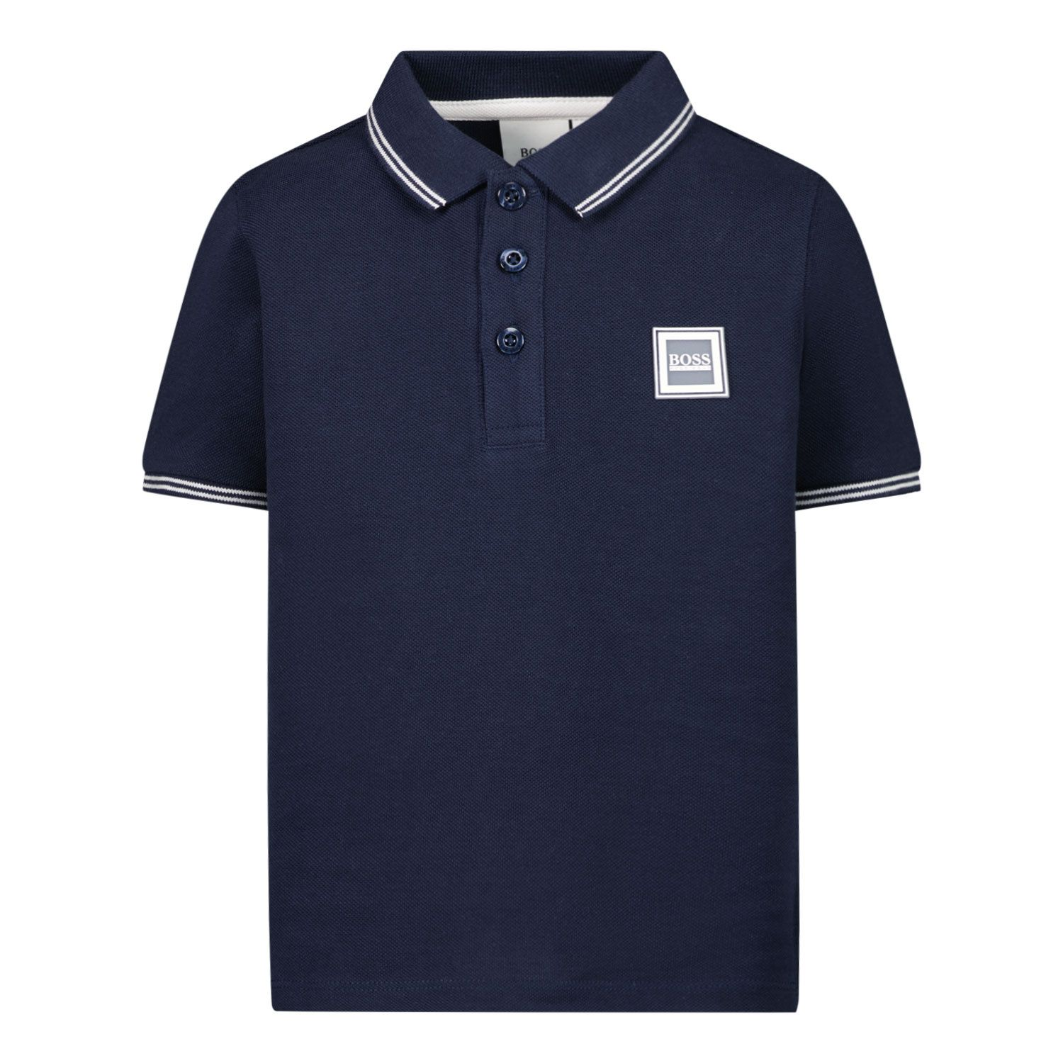 Picture of Boss J05846 baby poloshirt navy