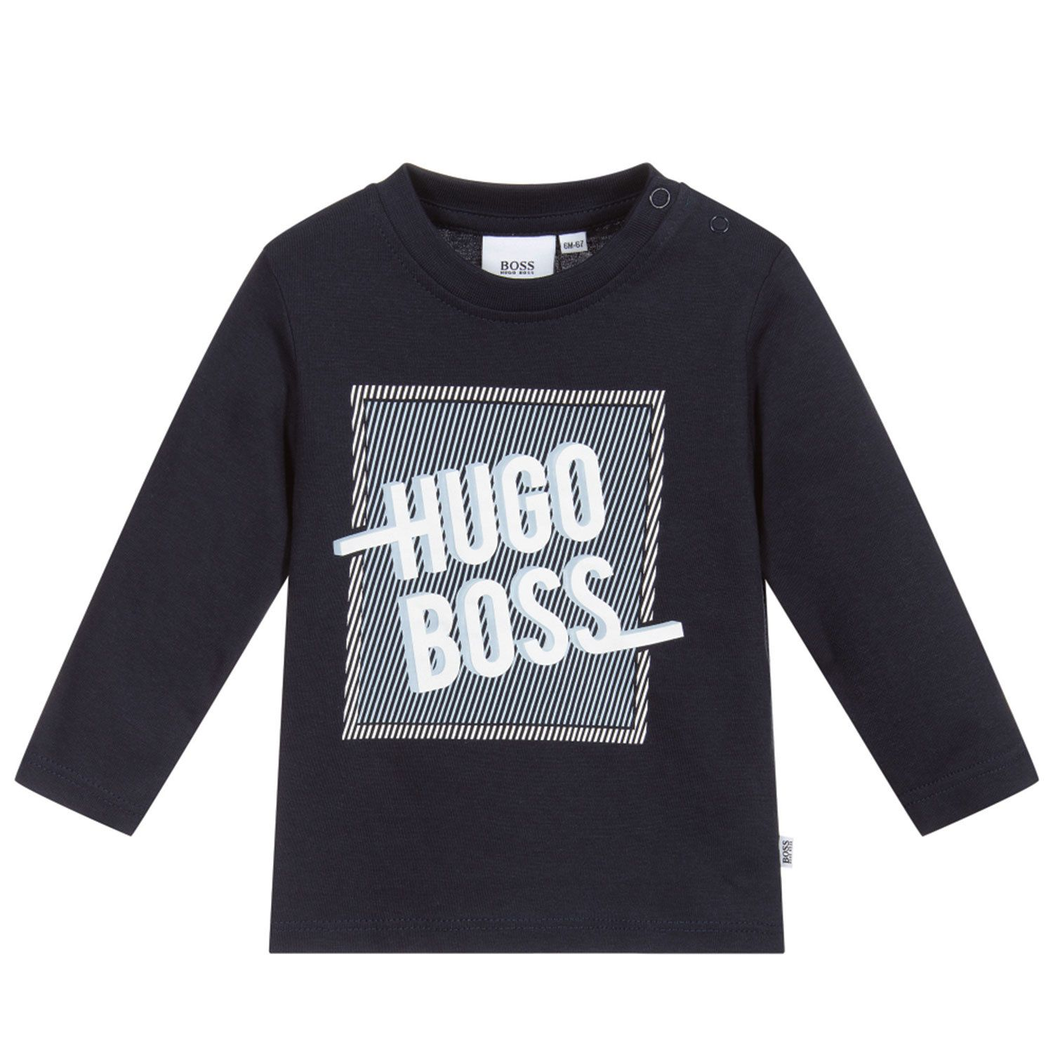 Picture of Boss J05800 baby shirt navy