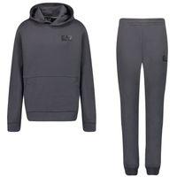 Picture of EA7 6KBV53 kids sweatsuit dark gray
