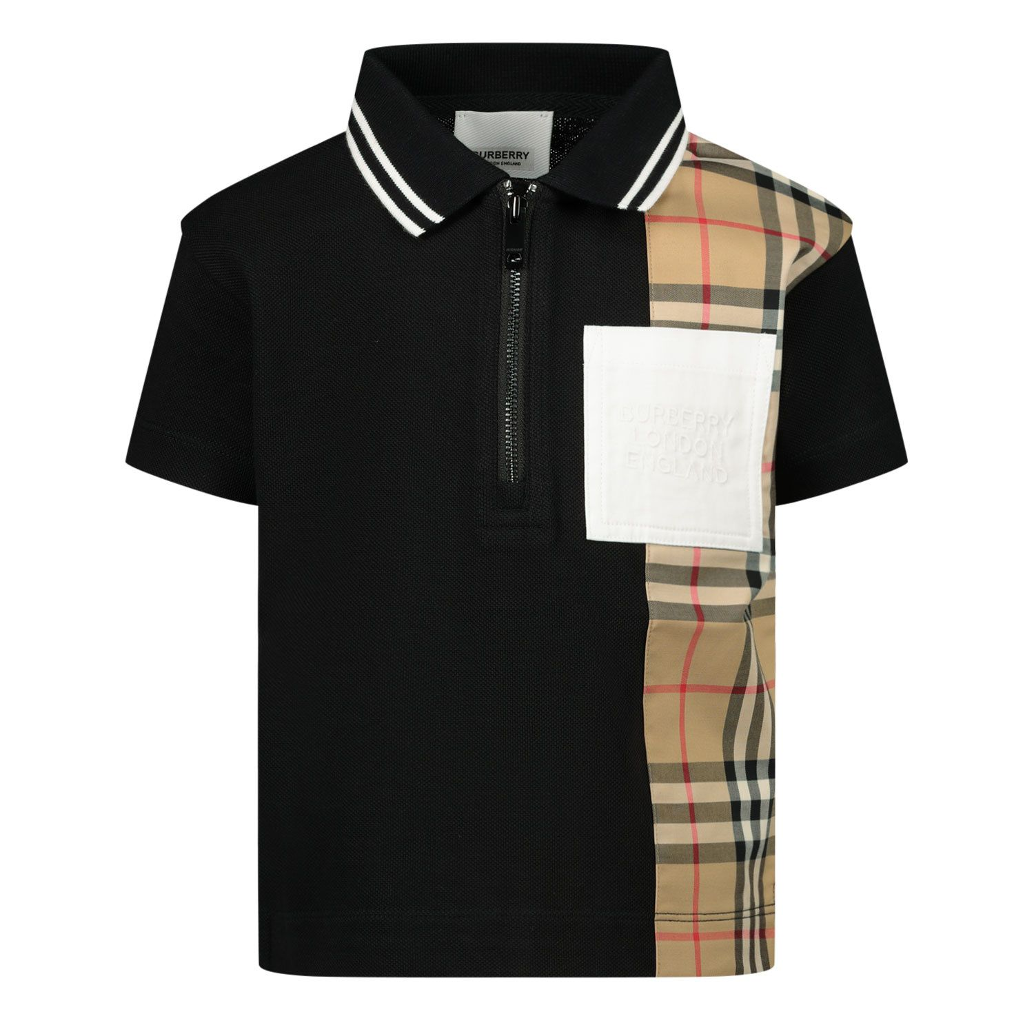 Picture of Burberry 8036420 baby poloshirt black