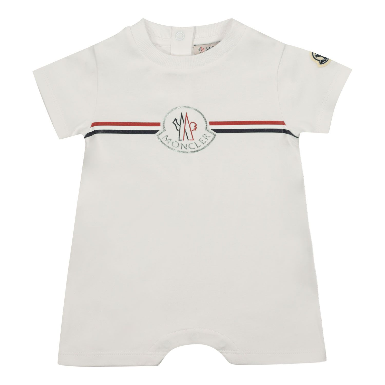 Picture of Moncler 8L72400 baby playsuit white
