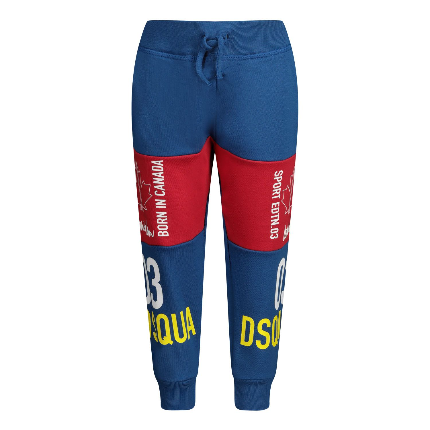 Picture of Dsquared2 DQ0009 baby pants cobalt blue