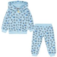 Afbeelding van Moschino M5K00G baby joggingpak licht blauw