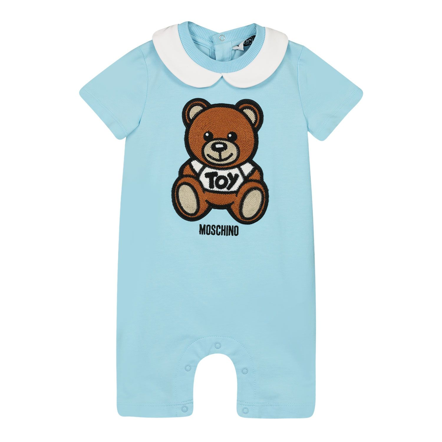 Picture of Moschino MMT01H baby playsuit light blue