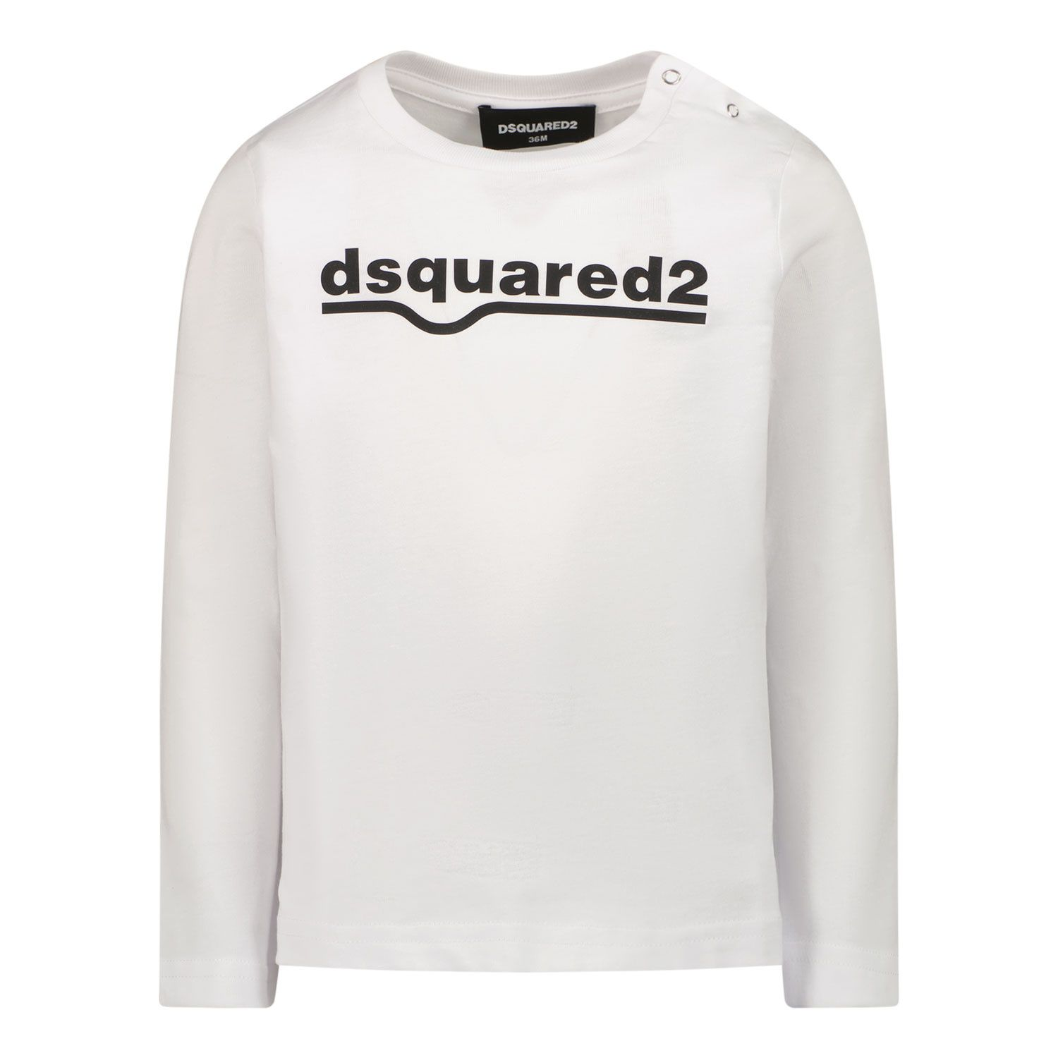 Picture of Dsquared2 DQ0550 baby shirt white