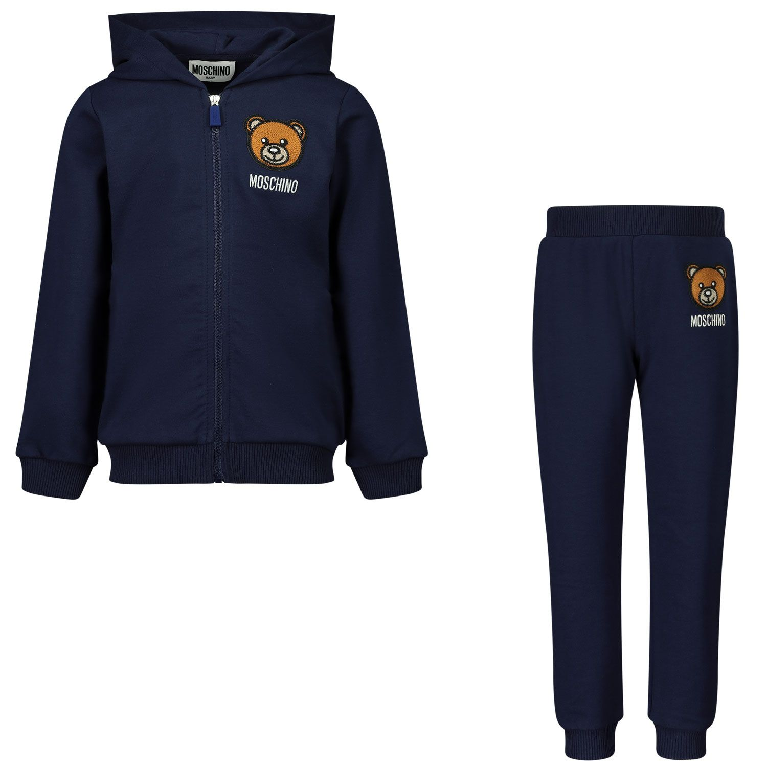 Picture of Moschino MTK00G baby sweatsuit navy