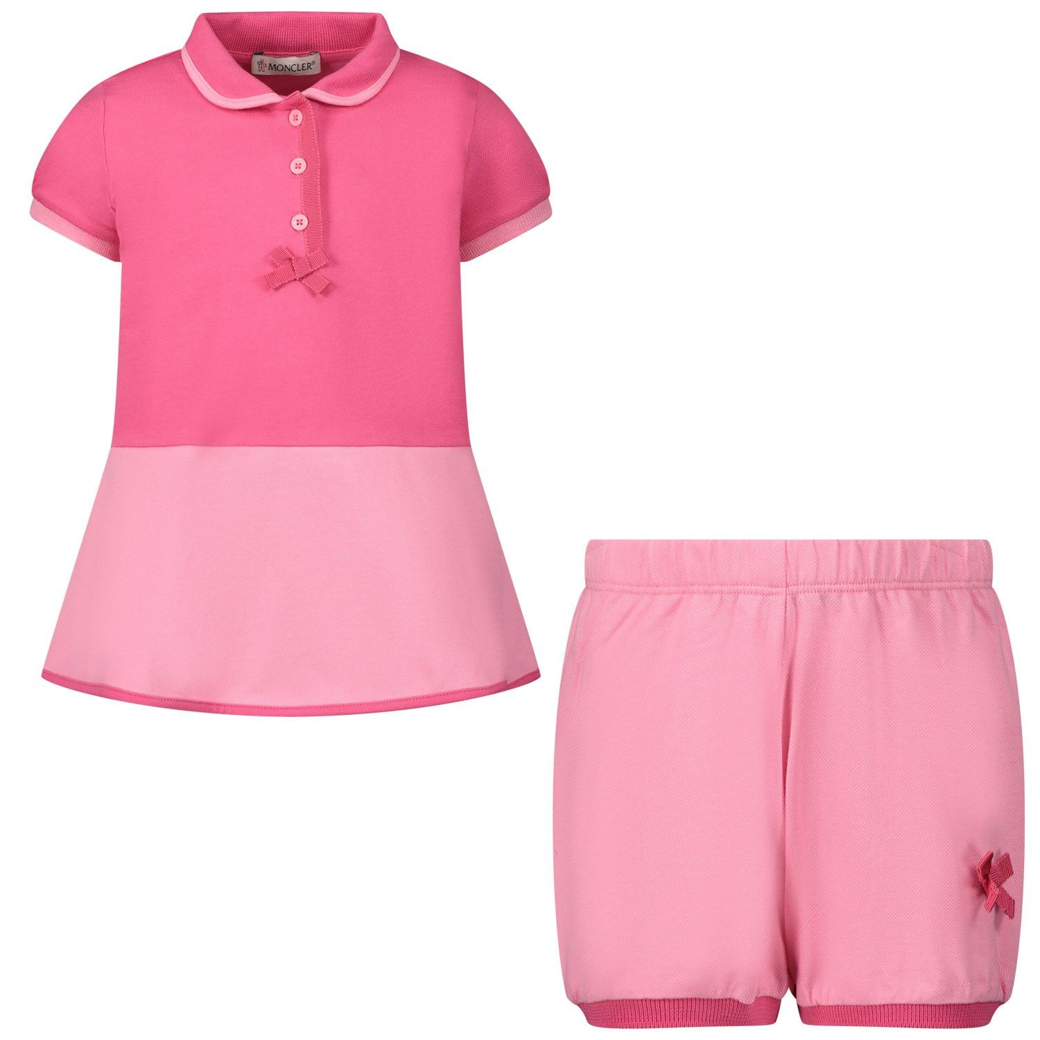 Picture of Moncler 8I70010 baby set pink