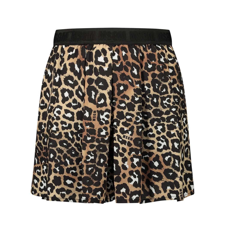 Afbeelding van MSGM 25085 kinder shorts panter