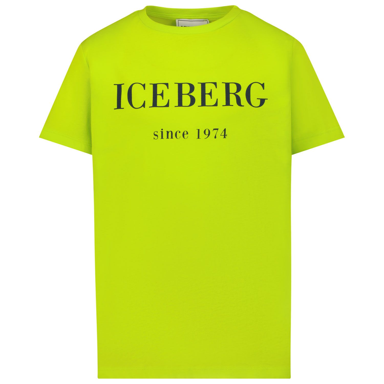 Afbeelding van Iceberg TSICE2300J kinder t-shirt fluor geel