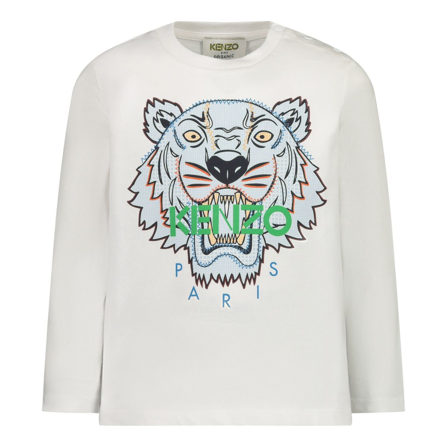 Picture of Kenzo KR10587 baby shirt white