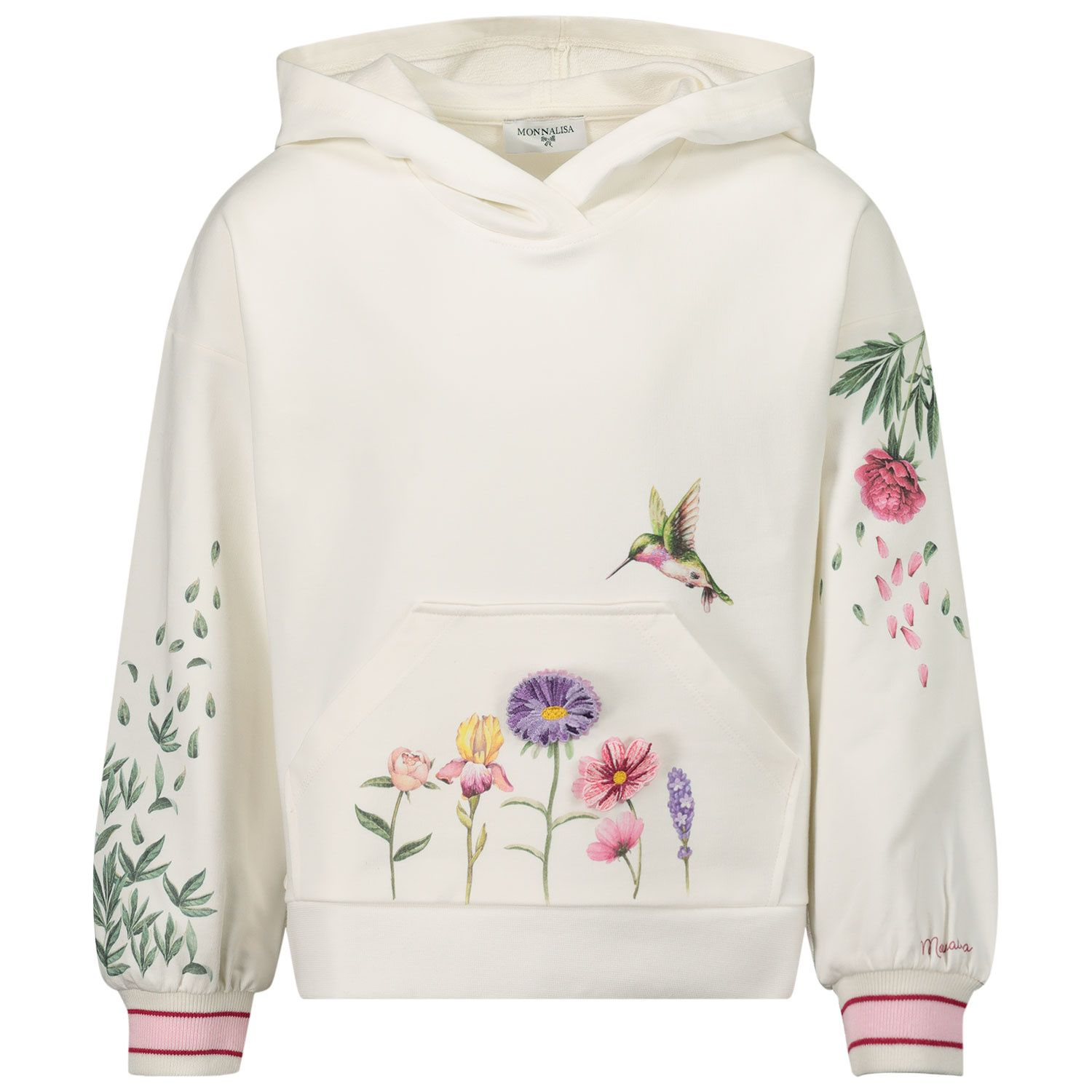 Picture of MonnaLisa 197602S4 kids sweater off white