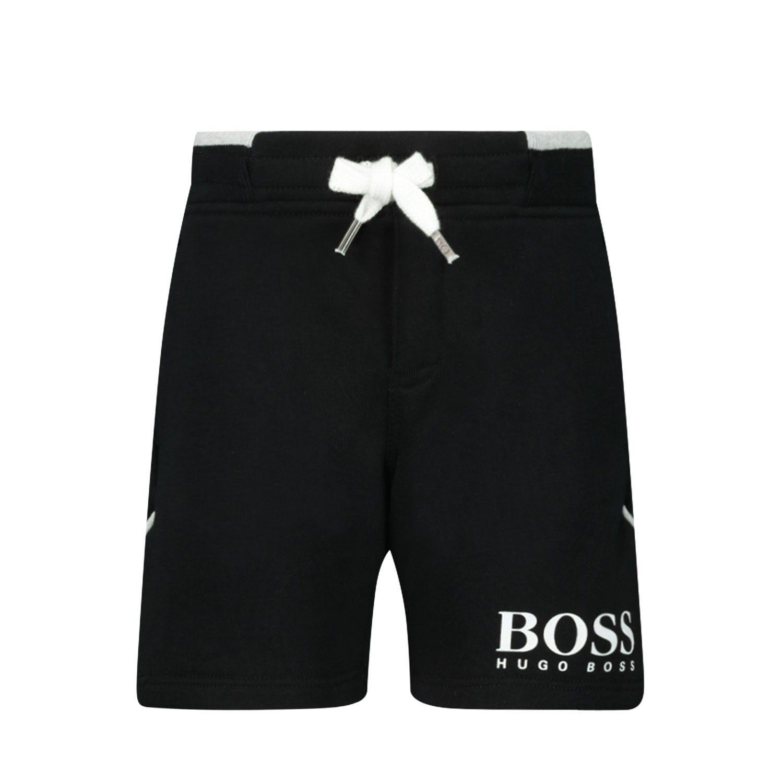 Afbeelding van Boss J04357 baby shorts zwart