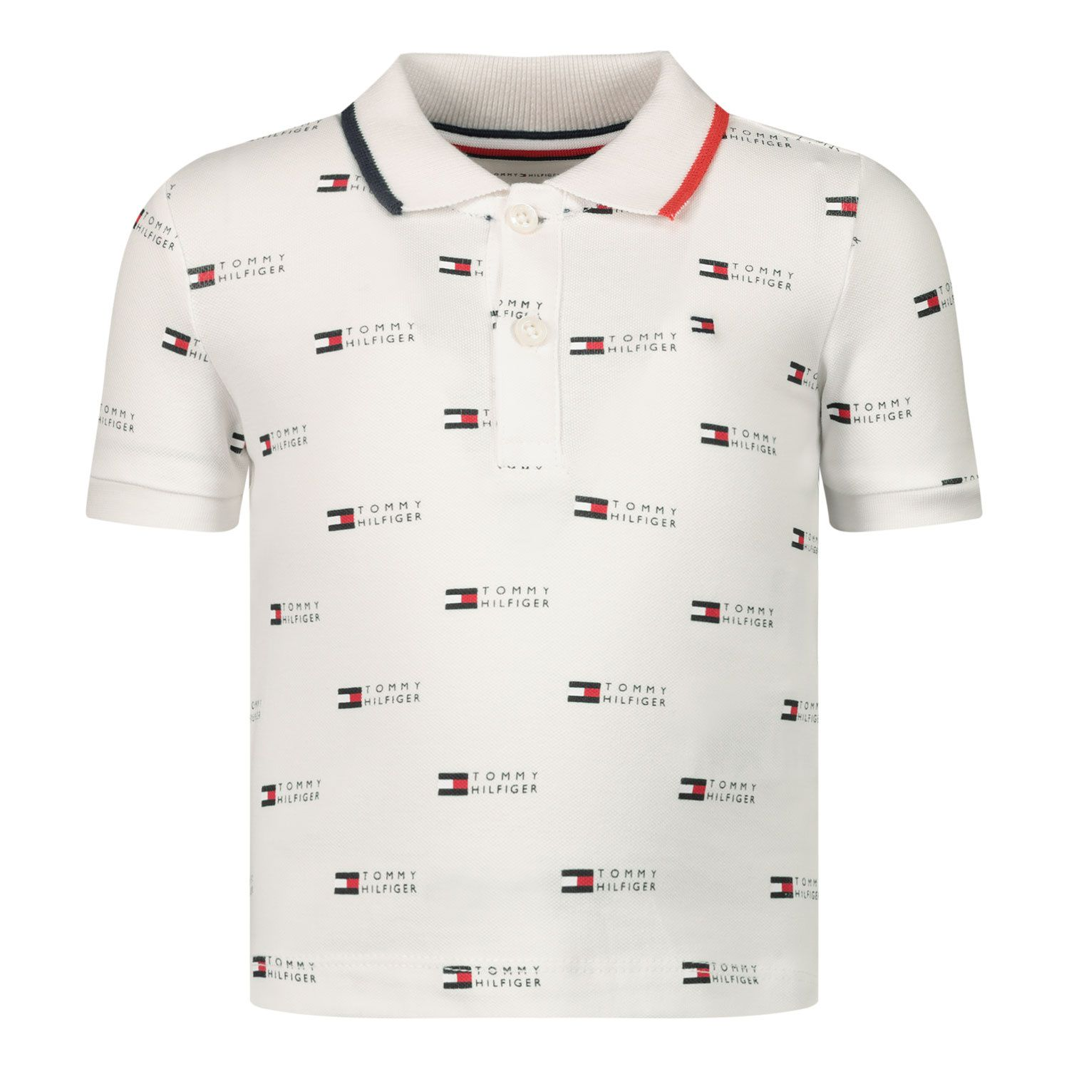 Afbeelding van Tommy Hilfiger KN0KN01290 baby polo wit