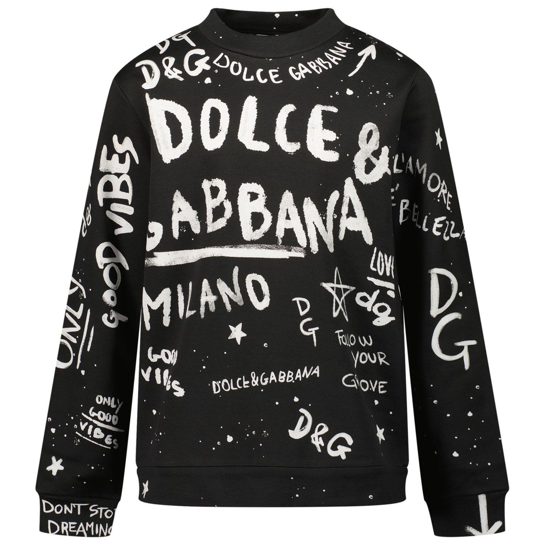 Bild von Dolce & Gabbana L4JW0K G7BJG Kinderpullover Schwarz