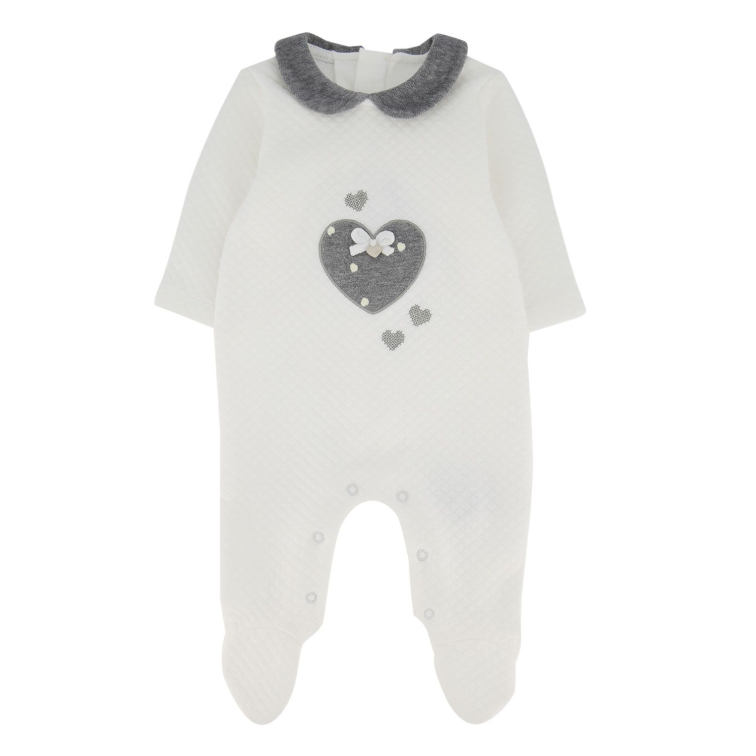 Picture of Mayoral 2625 baby playsuit off white