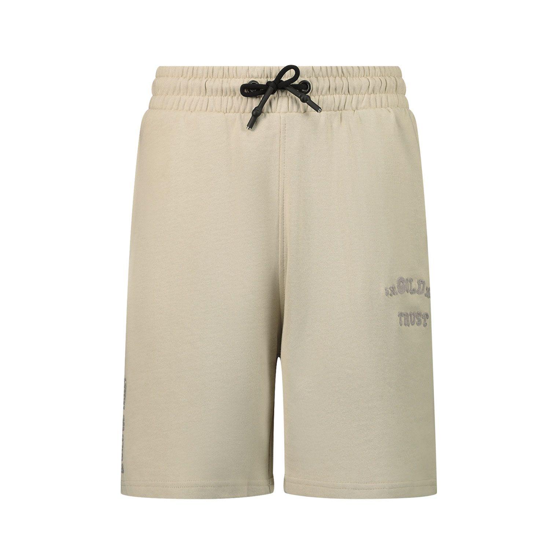 Afbeelding van in Gold We Trust CHAIN EMBROIDERY SHORT kinder shorts licht beige