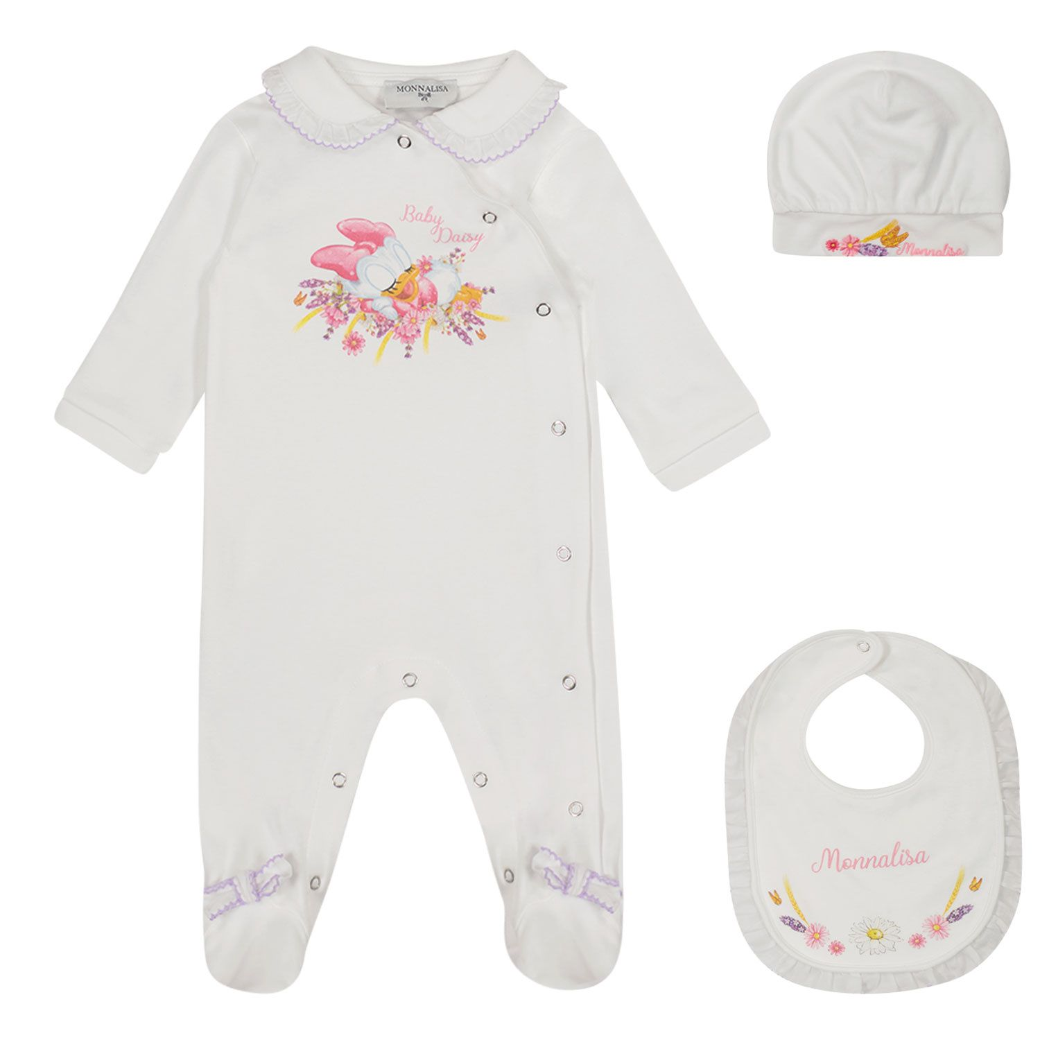 Picture of MonnaLisa 357505PH baby playsuit white