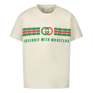 Afbeelding van Gucci 576871 XJB5B baby t-shirt off white