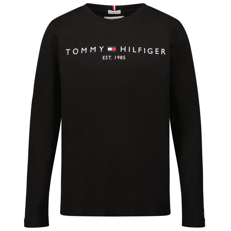 Picture of Tommy Hilfiger KS0KS00202 kids t-shirt black