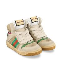 Picture of Gucci 630816 kids sneakers beige