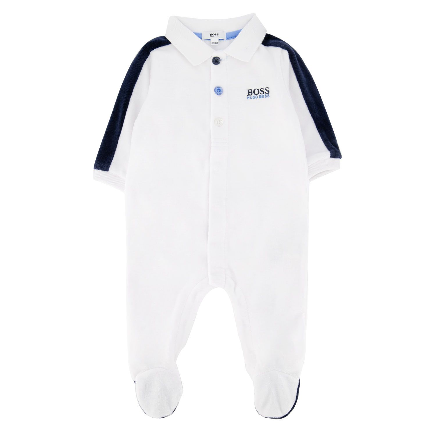 Picture of Boss J97162 baby playsuit white