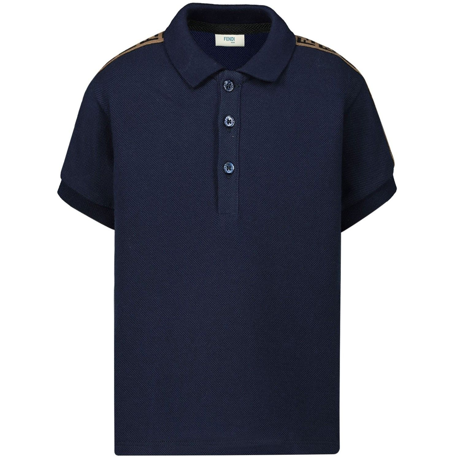 Picture of Fendi JMI293 kids polo shirt navy