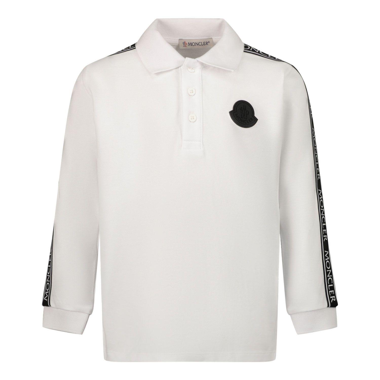 Afbeelding van Moncler 8B71020 baby polo off white