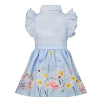 Picture of Lapin 211E3285 baby dress light blue