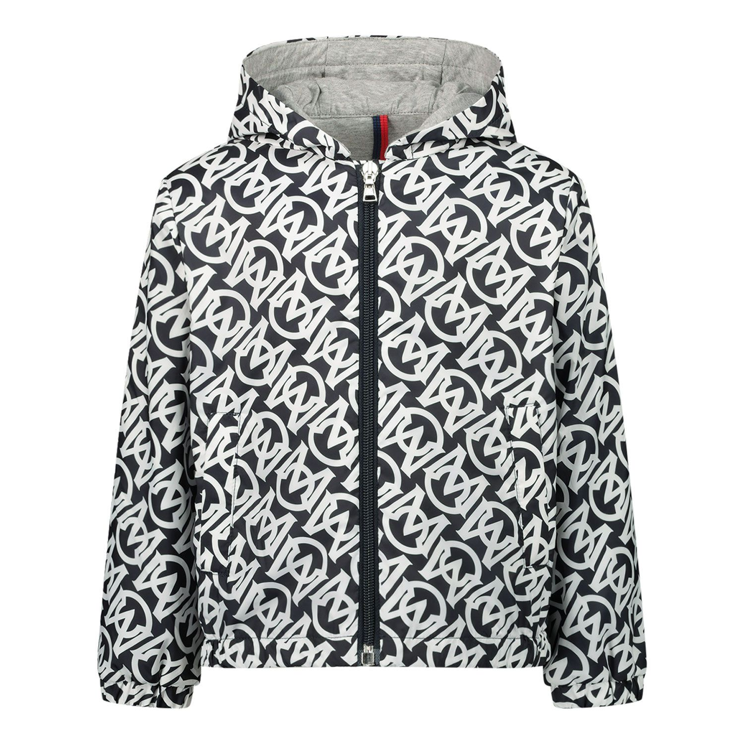 Picture of Moncler 1A71220 baby coat navy