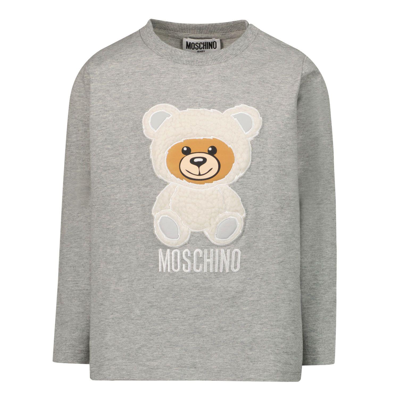 Afbeelding van Moschino MMO005 baby t-shirt grijs