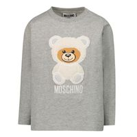 Picture of Moschino MMO005 baby shirt grey