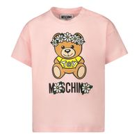Picture of Moschino MDM02V baby shirt pink