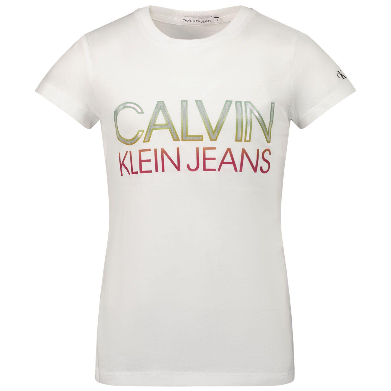 Picture of Calvin Klein IG0IG00892 kids t-shirt white