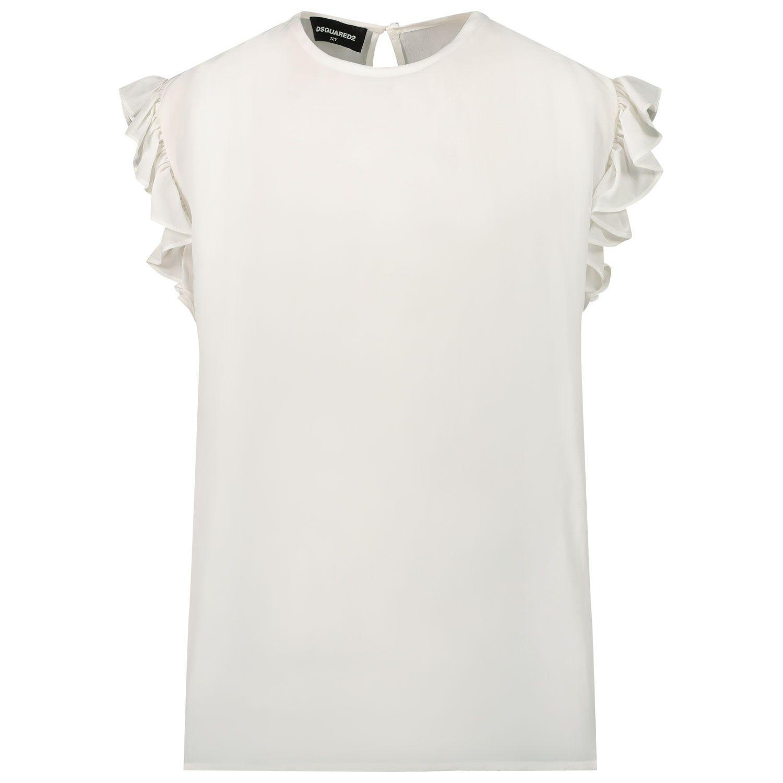 Afbeelding van Dsquared2 DQ0095 kinder t-shirt off white