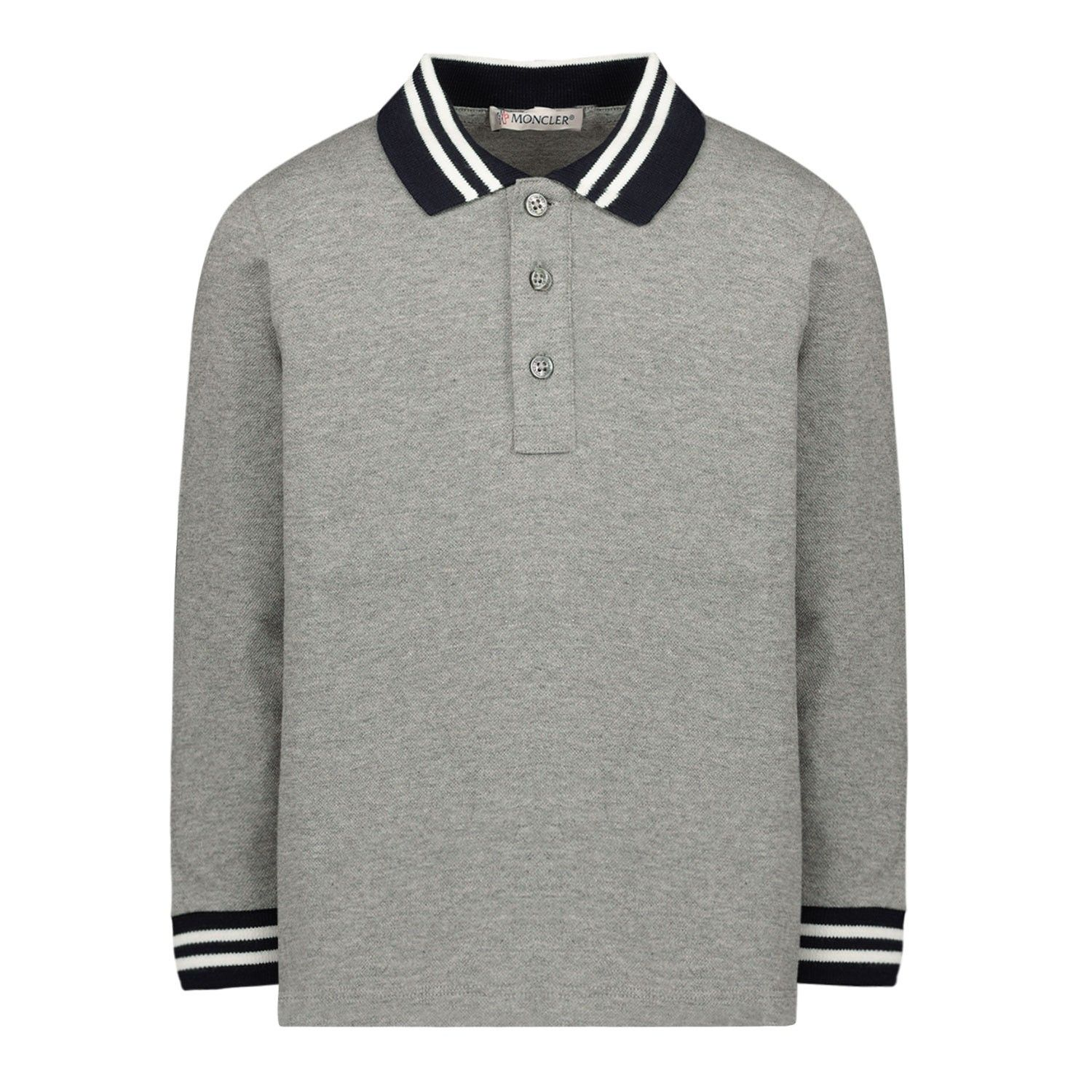 Picture of Moncler 8B70320 baby poloshirt light gray