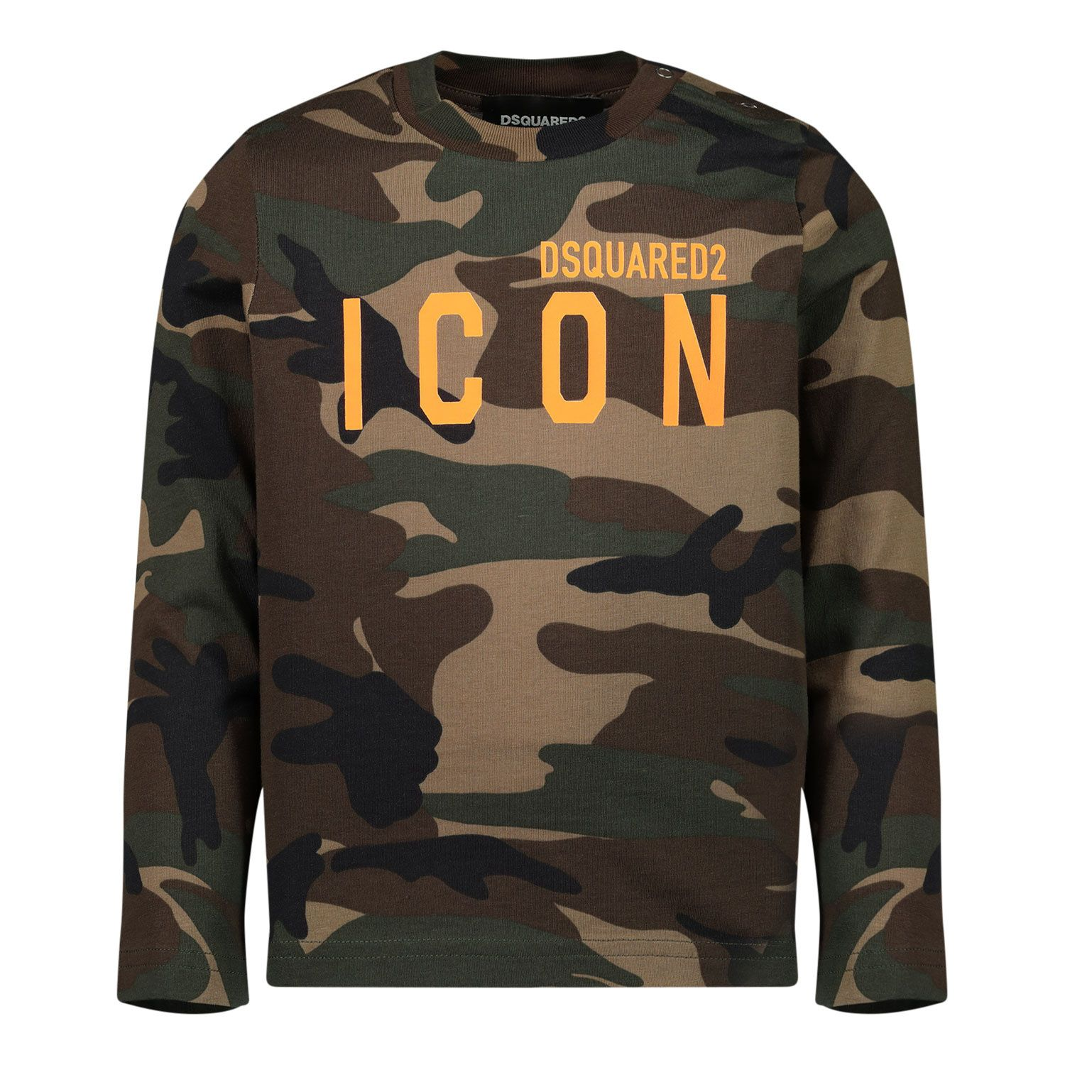Picture of Dsquared2 DQ04D7 D002V baby shirt army