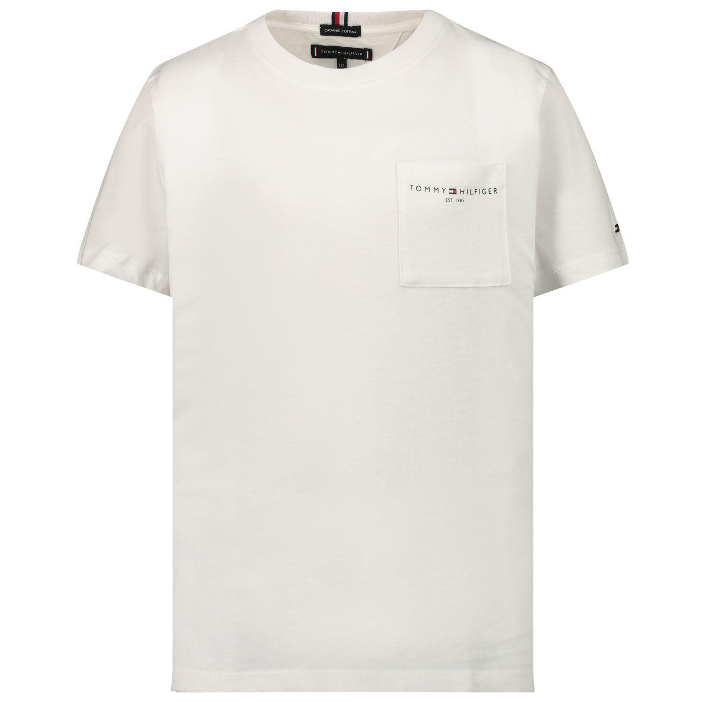Afbeelding van Tommy Hilfiger KB0KB06556 kinder t-shirt wit