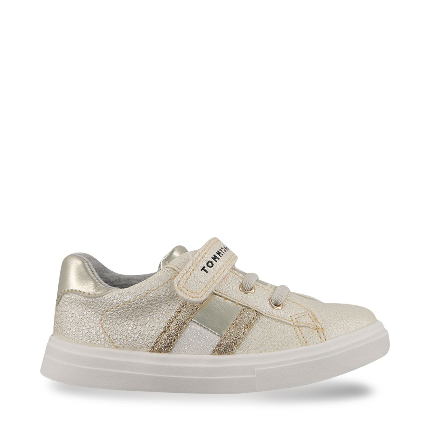 Picture of Tommy Hilfiger 31014 kids sneakers gold