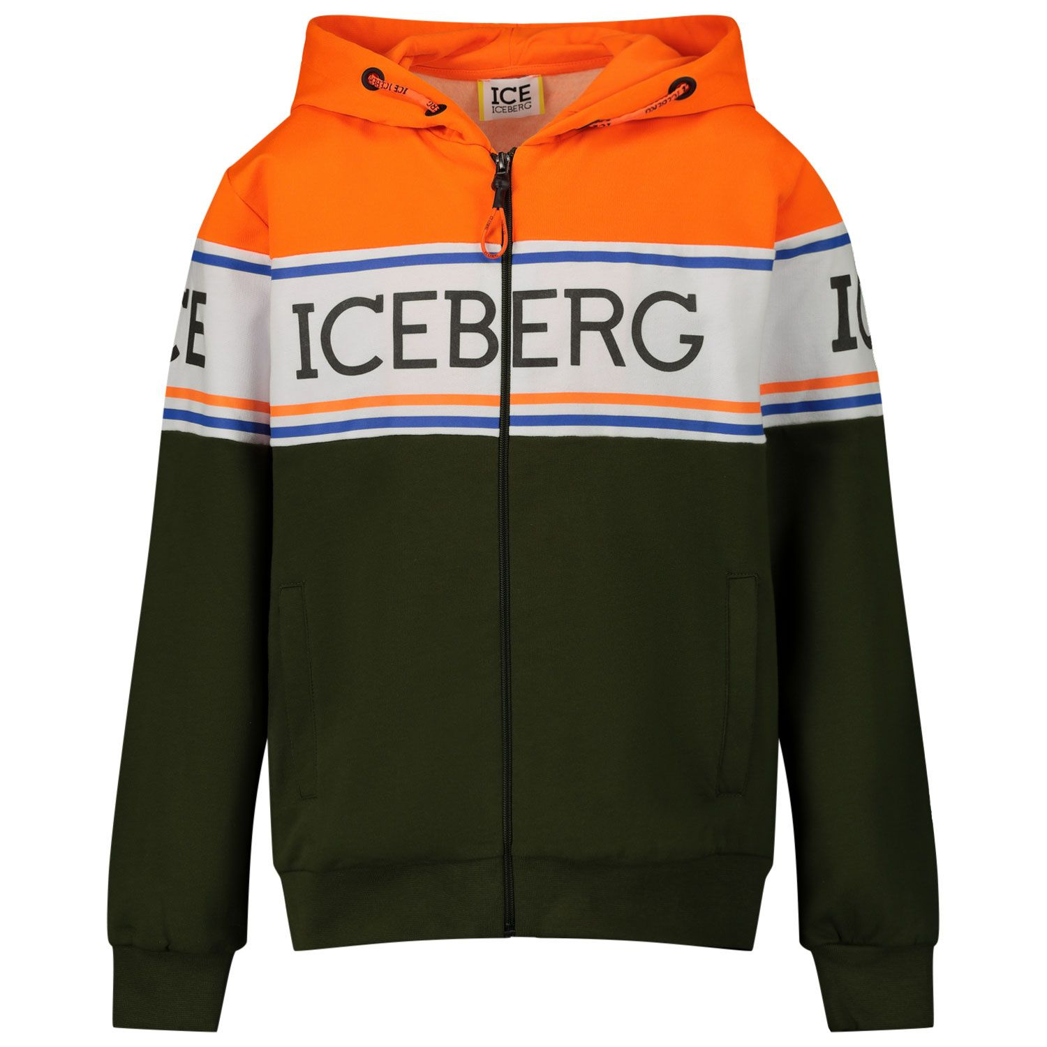 Picture of Iceberg MFICE0302J kids sweater army