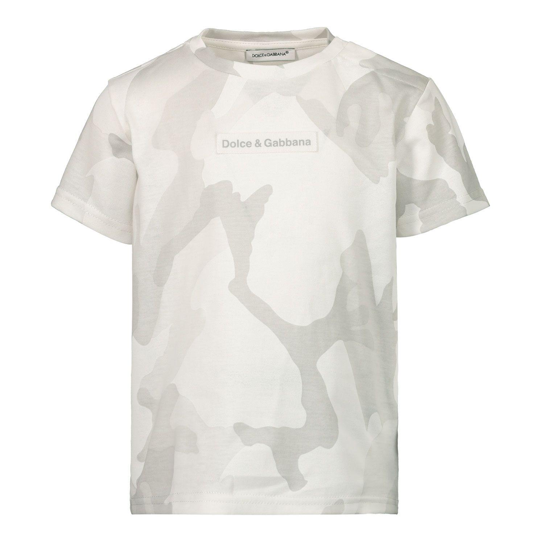 Bild von Dolce & Gabbana L1JT8E G7YIS Baby-T-Shirt Hellgrau