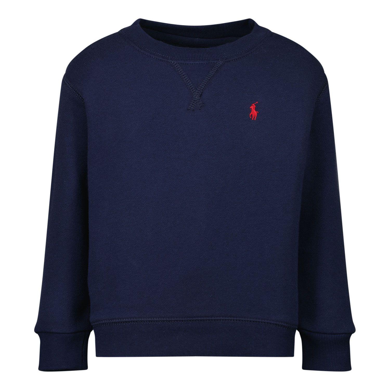 Picture of Ralph Lauren 320772102 baby sweater navy